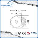 Évier de cuisine en acier inoxydable avec vidange Board (ACS5745)