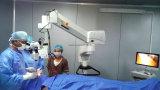 Microscópio do funcionamento do zoom para a oftalmologia