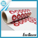 Изготовленный на заказ красная круглая слипчивая крона белизны печатание стикера