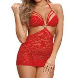 Venda por grosso melhor Meninas Red Lace Backless Mulheres de lingerie sexy
