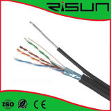 4 pares de cable LAN, FTP Cat5e con Messenger, ISO / CE / RoHS