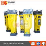 Martillo hidráulico encajonado usado durabilidad larga de los cortacircuítos con el cincel de 135 milímetros