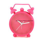 D'Unbreakable couleur fluorescente Twin Bell Snooze Silicone muet Mini Table des horloges d'alarme