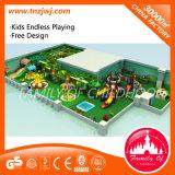 Скольжение спортивной площадки пластичных детей Гуанчжоу крытое