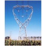 Galvaniseerde de Transmissie van de Stroom van de hoogspanning Monopole Toren van het Staal