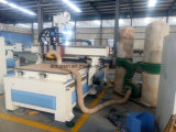Машина CNC пневматических шпинделей Sysem Multi деревянная высекая, древесина машины маршрутизатора, маршрутизатор CNC 2 головок с роторным