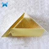 Scheda di scorta di schede lucida del contrassegno dei vestiti di marchio dell'oro di marca di stampa