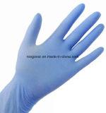 Guanti blu del nitrile del locale senza polvere a gettare per industriale