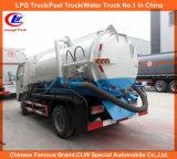 Camion della pompa aspirante di vuoto per il camion di serbatoio delle acque luride 5000liters