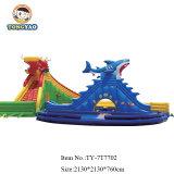 Осенью Tongyao пробуксовки колес с плавающей запятой горкой бассейн надувной для детей