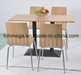 Stackable Modern Factory Canteen Chair for Sale (FOH - NCP4)