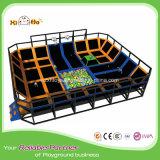 Trampolín de interior grande de China con el recinto para los adultos