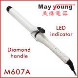 Encrespador de cabelo cerâmico de Glaring&Luxury do punho do diamante da manufatura 24