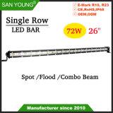 26pouces simple rangée 72W Offroad barre LED CREE LED Light Bar