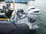 Barco de patrulha de Aqualand 30feet 9m/bote de salvamento do reforço/barco de passageiro militares (RIB900)