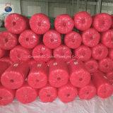 Tissu spiralé tissé par pp en gros de rouge pour le foin de empaquetage