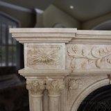 Lareira em mármore de estilo francês com boa qualidade Hand-Carved T-6576