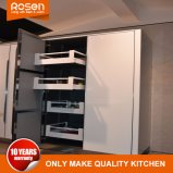 Meilleurs vitraux peints en blanc armoire Lacpuer personnalisé de meubles de cuisine