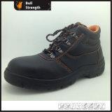 Sapatos industriais de segurança de couro com certificado Ce (Sn1206)