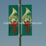 Calle bilateral poste del metal que hace publicidad del brazo del indicador (BS34)