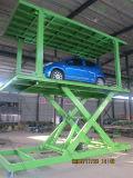 Tipo tesoura Inground estacionamento hidráulico de elevação do carro