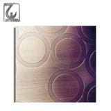Dekoratives Blatt des Edelstahl-304 mit geprägter Oberfläche