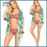 De Bikini Swimwear van de Chiffon van Boho met zon-Bewijs Dekmantel