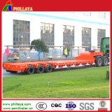 de Semi Aanhangwagen van de Jongen van de Vrachtwagen 3axles 100tons Lowbed Op zwaar werk berekende Lage