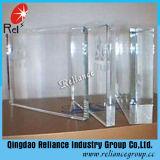 """Il vetro """"float"""" ultra chiaro/basso riveste di ferro il vetro di vetro/più del normale chiaro/vetro libero eccellente di vetro/costruzione con spessore 1-19mm"""