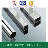 SUS201, tubo de acero inoxidable cuadrado de 304 Rectangulard