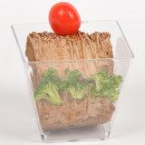 Cuvette remplaçable de dessert de cuvette de cuvette en plastique avec le couvercle