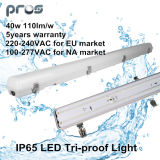 600mm/1.200 mm/1.500 mm LED Luz Tri-Proof IP65 40W para fins industriais/de Estacionamento