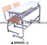 Silla de la escuela muebles de madera Tipo Doble Estudiante Desk