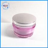 Пластмассовый контейнер косметической упаковки акриловый крем Jar Косметический