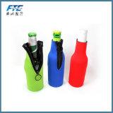 Refrigerador aislado neopreno de la botella del color con la cremallera para el amante