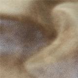 Cuir synthétique de PVC de sensation de sofa de meubles graisseux et cireux de la Chine