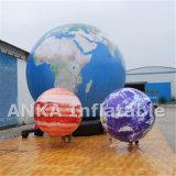 Большой раздувной воздушный шар планеты земли с всей печатью цифров