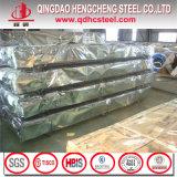 Hoja de acero acanalada galvanizada cubierta color de PPGI