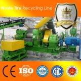 L'environnement machine de recyclage des pneus usagés