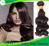 Extensão barata do cabelo humano de Remy do preço da classe 7A crua de 100%
