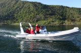 Canot automobile gonflable rigide de bateau de pêche de sports de fibre de verre d'Aqualand 20feet 6m/de côte (RIB620D)