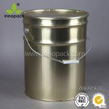 より低いロックリングのふたとの低価格の25Lサイズの金属の錫のバケツ6.5ガロンのバケツ