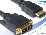 Кабель HDMI - DVI 24+1 кабель двойной линии, с золотым покрытием (24k)