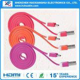 Nouvelle entrée colorée du câble de chargement de haute qualité USB câble plat