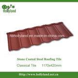 Камень с покрытием стальной лист крыши (классическое оформление)