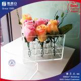 Romantischer Luxuxfreier Raum während schwarzer Acrylplastikrosen-Blumen-Kasten
