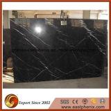 Buon marmo di Nero Marquina del nero di prezzi per le mattonelle della stanza da bagno del pavimento
