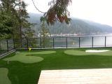 Relvado sintético da grama artificial do campo do golfe com certificação do GV
