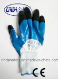 Перчатки покрынные нитрилом трудные защитные работая
