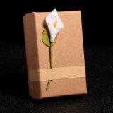 Papel Kraft personalizada Calla Lily decoración floral Joyero ##gw27